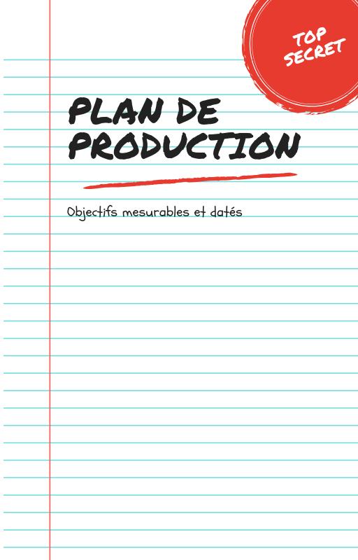 Plan de production de la formation en ligne.