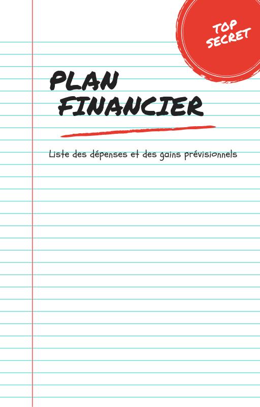 Plan financier de la formation en ligne.