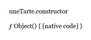 Propriété constructor, notation littérale.