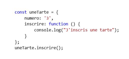 Création d'un objet JavaScript avec la notation littérale