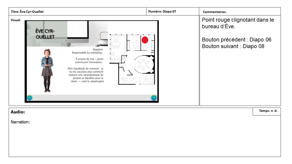 Diapositive 7 Storyboard e-learning