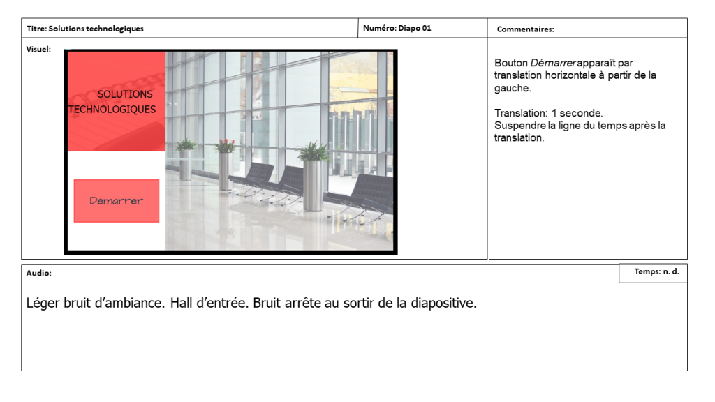 Diapositive 1 Storyboard e-learning