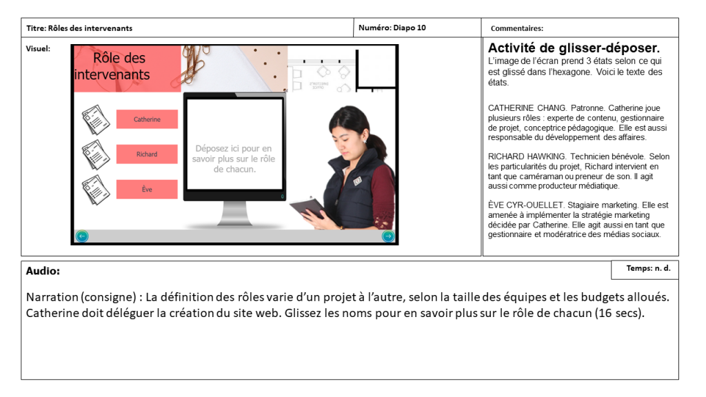 Diapositive 10 Storyboard e-learning