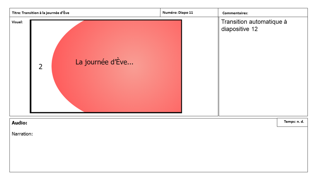 Diapositive 11 Storyboard e-learning