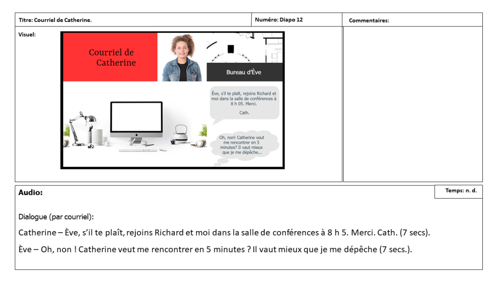 Diapositive 12 Storyboard e-learning
