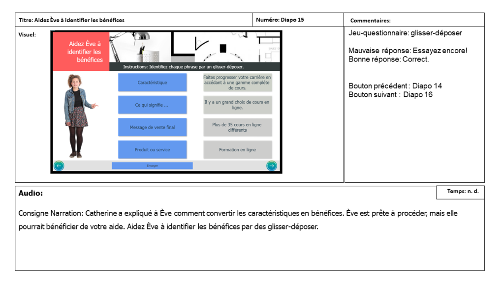 Diapositive 15 Storyboard e-learning