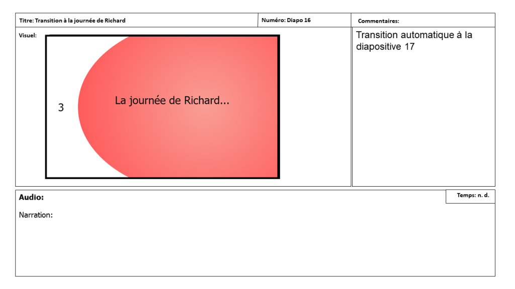 Diapositive 16 Storyboard e-learning