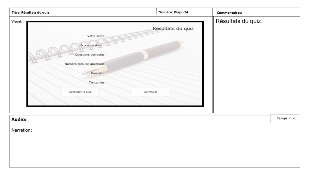Diapositive 25 Storyboard e-learning