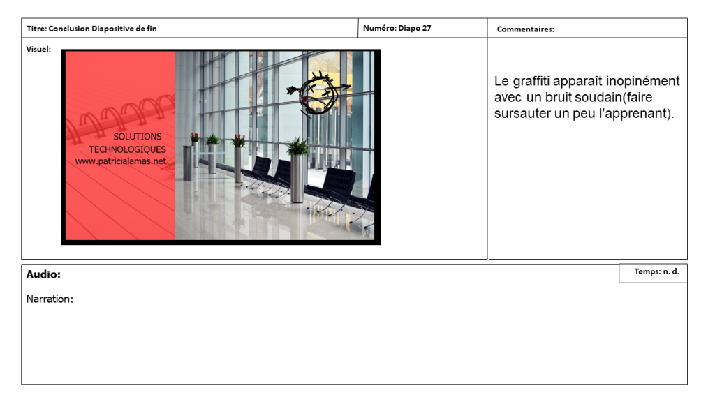 Diapositive 21 Storyboard e-learning