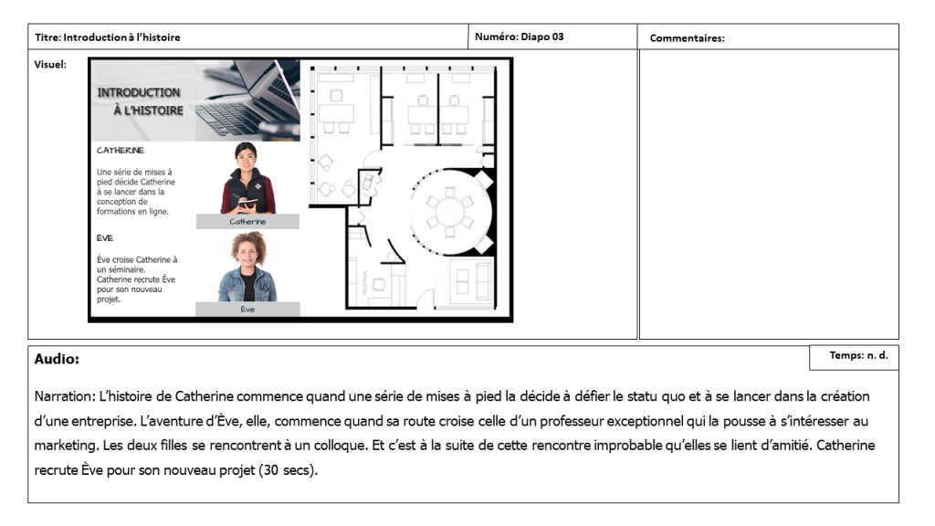 Diapositive 3 Storyboard e-learning