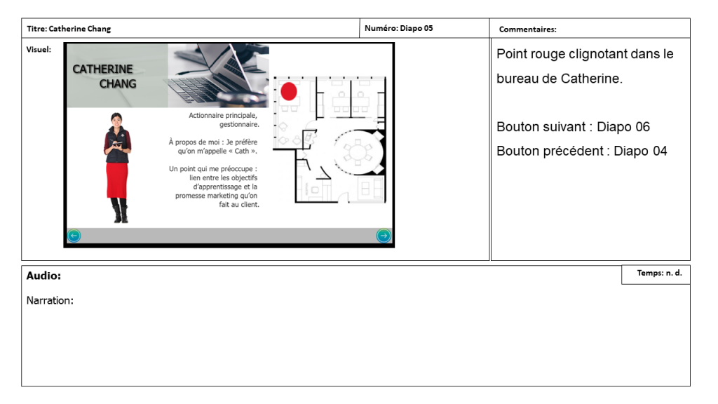 Diapositive 5 Storyboard e-learning