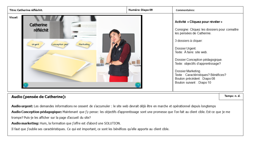 Diapositive 9 Storyboard e-learning