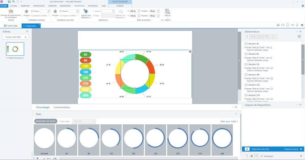 Définition des états du cercle qui va servir à représenter les statistiques.