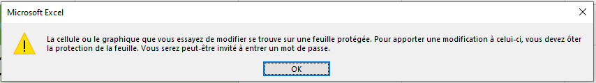 Message de protection